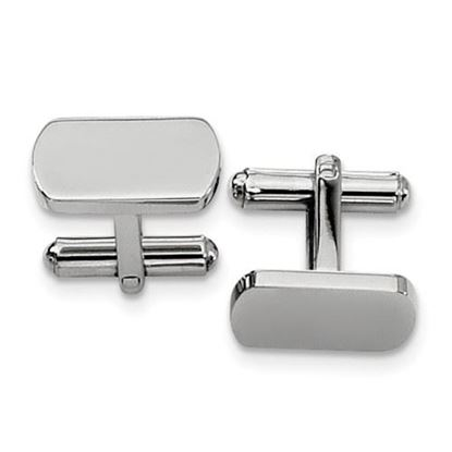 Picture of Stainless Steel Polished Oblong Classic Cufflinks