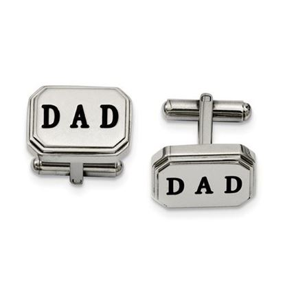 Picture of Stainless Steel Polished Dad Cufflinks
