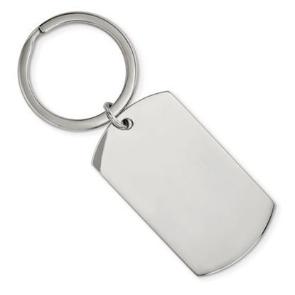 Picture of Stainless Steel Brushed Polished 1.85mm Reversible Key Chain