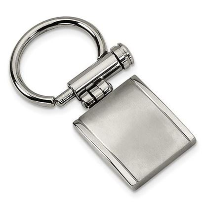 Picture of Stainless Steel Brushed Polished Key Chain