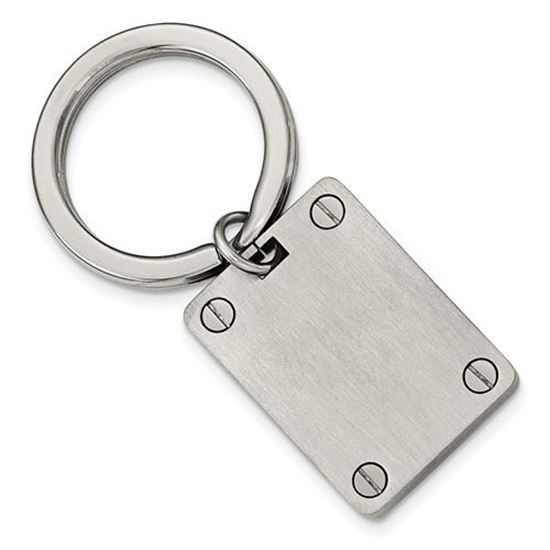 Picture of Stainless Steel Polished Brushed Key Ring