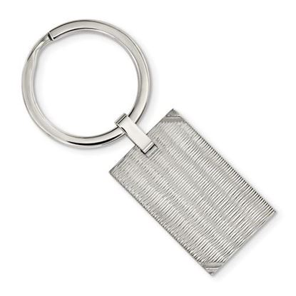 Picture of Stainless Steel Polished Textured Key Ring