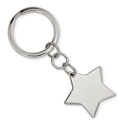 Picture of Stainless Steel Polished Star Key Chain