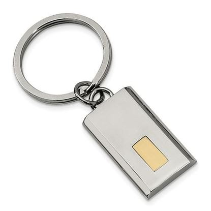 Picture of Stainless Steel Polished Yellow IP-plated Key Chain