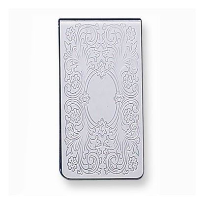 Picture of Silver-tone Polished Patterned Money Clip
