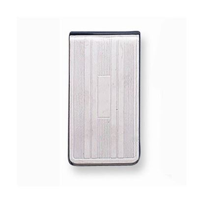 Picture of Silver-tone Line Pattern Money Clip