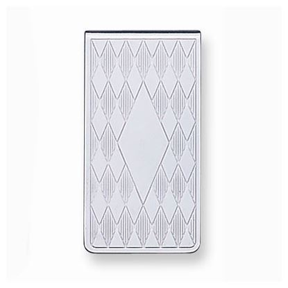 Picture of Silver-tone Diamond Pattern Money Clip