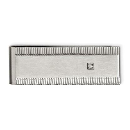 Picture of Stainless Steel Polished and Brushed CZ Money Clip