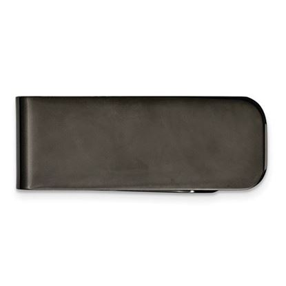 Picture of Stainless Steel Polished Black IP-plated Money Clip