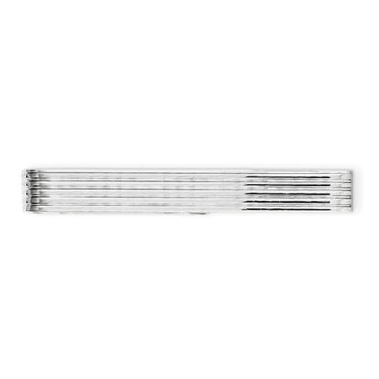Picture of Sterling Silver Rhodium-plated Polished Grooved Tie Bar