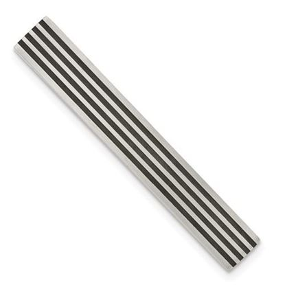 Picture of Stainless Steel Brushed Black Rubber Tie Bar