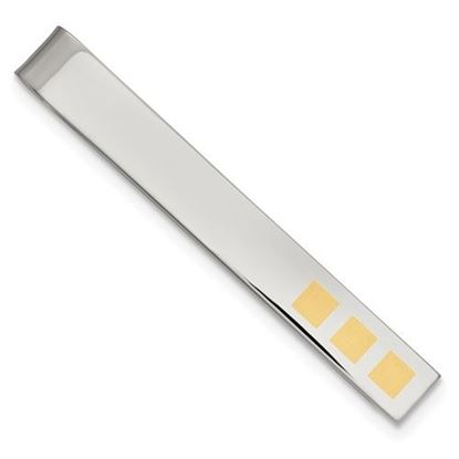 Picture of Stainless Steel Yellow IP-plated Tie Bar