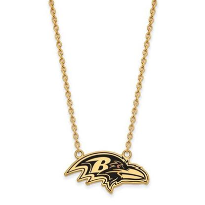 Picture of Baltimore Ravens Gold Plated Enamel Pendant 18 Inch Necklace