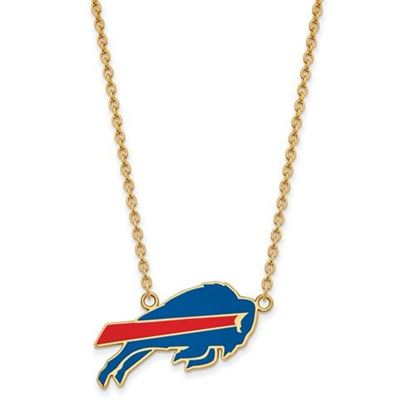 Picture of Buffalo Bills Gold Plated Enamel Pendant 18 Inch Necklace