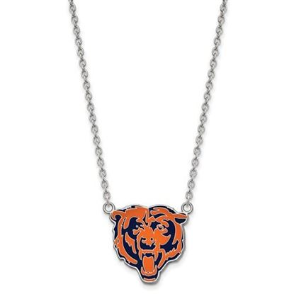 Picture of Chicago Bears Sterling Silver Enamel Pendant 18 Inch Necklace