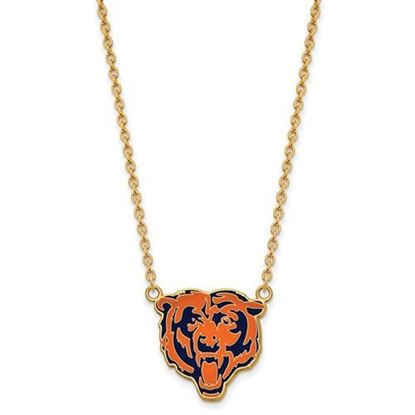 Picture of Chicago Bears Gold Plated Enamel Pendant 18 Inch Necklace