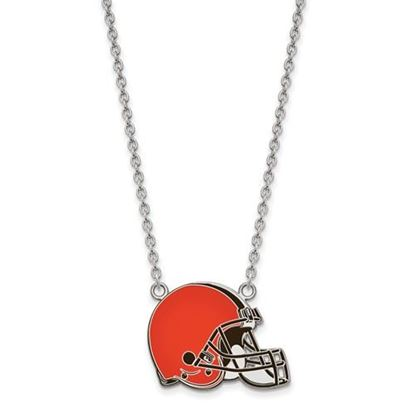 Picture of Cleveland Browns Sterling Silver Enamel Pendant 18 Inch Necklace