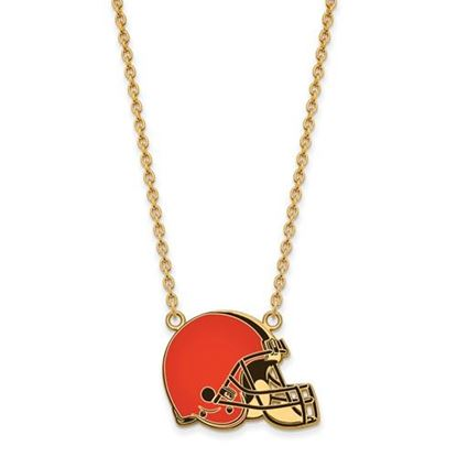 Picture of Cleveland Browns Gold Plated Enamel Pendant 18 Inch Necklace
