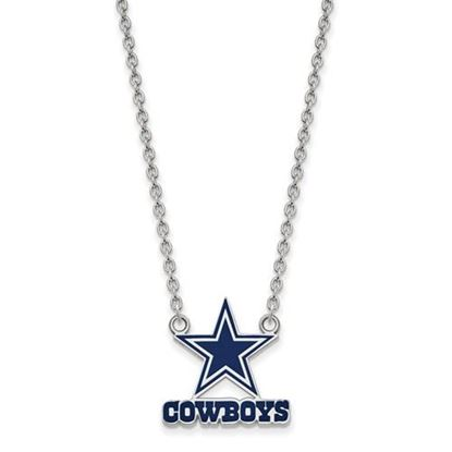 Picture of Dallas Cowboys Sterling Silver Enamel Pendant 18 Inch Necklace