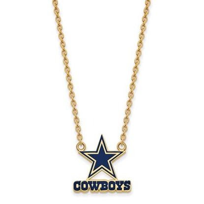 Picture of Dallas Cowboys Gold Plated Enamel Pendant 18 Inch Necklace