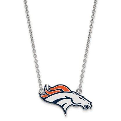 Picture of Denver Broncos Sterling Silver Enamel Pendant 18 Inch Necklace