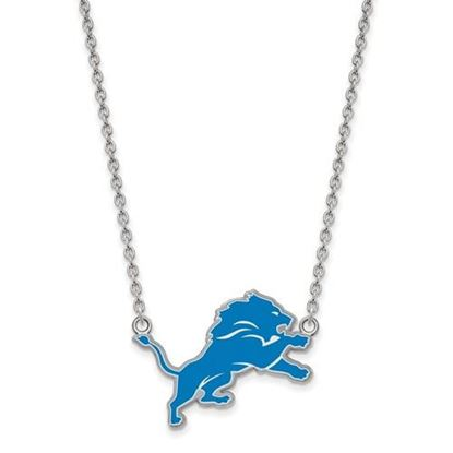Picture of Detroit Lions Sterling Silver Enamel Pendant 18 Inch Necklace
