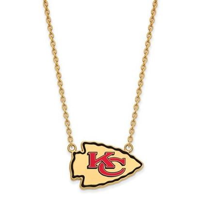 Picture of Kansas City Chiefs Gold Plated Enamel Pendant 18 Inch Necklace