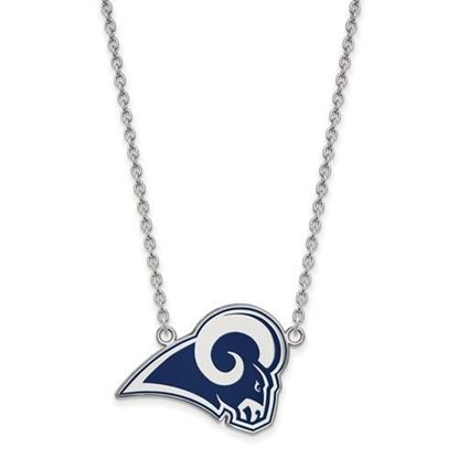 Picture of Los Angeles Rams Sterling Silver Enamel Pendant 18 Inch Necklace