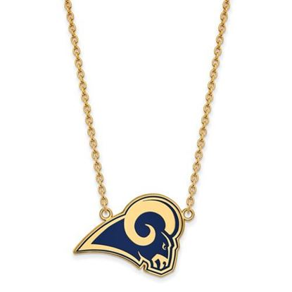 Picture of Los Angeles Rams Gold Plated Enamel Pendant 18 Inch Necklace