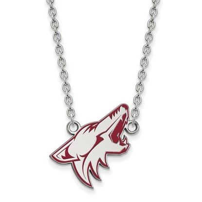 Picture of Arizona Coyotes Sterling Silver Enameled Pendant 18 Inch Necklace