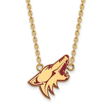 Picture of Arizona Coyotes Gold Plated Enameled Pendant 18 Inch Necklace