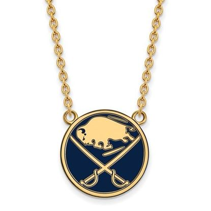 Picture of Buffalo Sabres Gold Plated Enameled Pendant 18 Inch Necklace