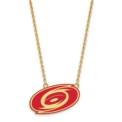 Picture of Carolina Hurricanes Gold Plated Enameled Pendant 18 Inch Necklace