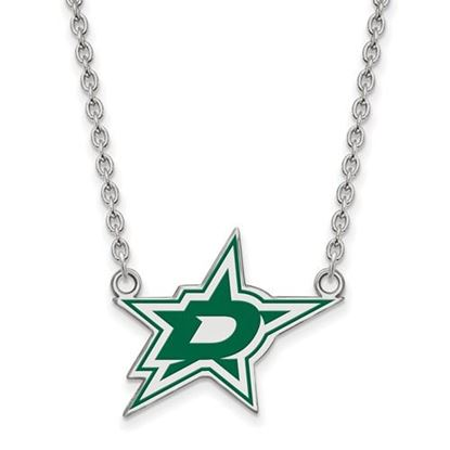 Picture of Dallas Stars Sterling Silver Enameled Pendant 18 Inch Necklace