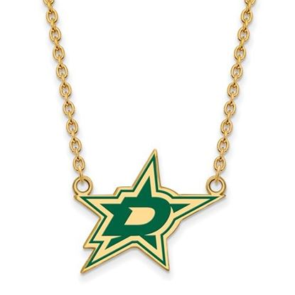 Picture of Dallas Stars Gold Plated Enameled Pendant 18 Inch Necklace