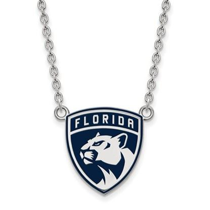 Picture of Florida Panthers Sterling Silver Enameled Pendant 18 Inch Necklace