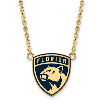 Picture of Florida Panthers Gold Plated Enameled Pendant 18 Inch Necklace