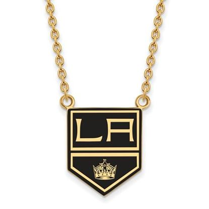 Picture of Los Angeles Kings Gold Plated Enameled Pendant 18 Inch Necklace