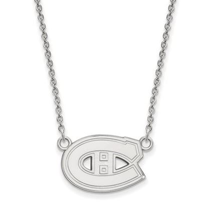 Picture of Montreal Canadiens Sterling Silver Enameled Pendant 18 Inch Necklace