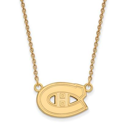 Picture of Montreal Canadiens Gold Plated Enameled Pendant 18 Inch Necklace