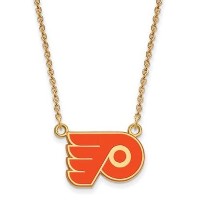 Picture of Philadelphia Flyers Gold Plated Enameled Pendant 18 Inch Necklace