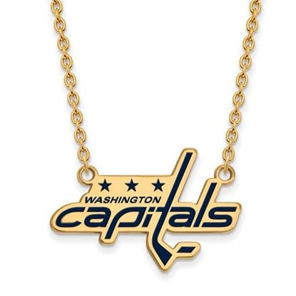 Picture of Washington Capitals Gold Plated Enameled Pendant 18 Inch Necklace