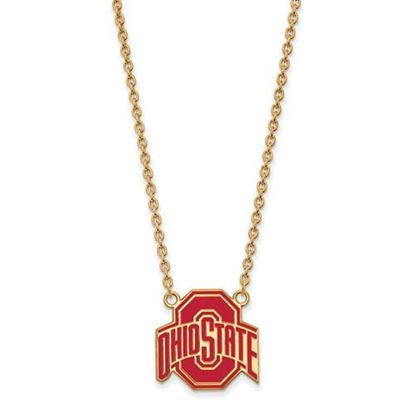 Picture of Ohio State Buckeyes Gold Plated Enamel Pendant 18 Inch Necklace