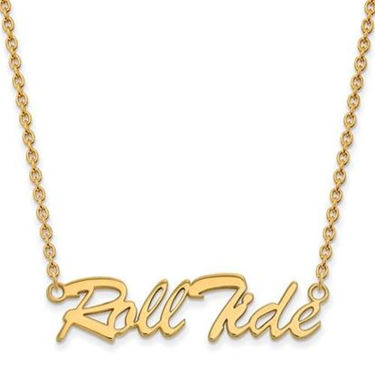 Picture of Alabama Crimson Tide Gold Plated Pendant 18 Inch Necklace