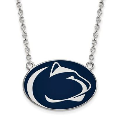 Picture of Penn State Nittany Lions Tide Sterling Silver Enamel Pendant 18 Inch Necklace