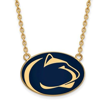 Picture of Penn State Nittany Lions Gold Plated Enamel Pendant 18 Inch Necklace