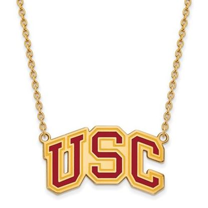 Picture of USC Trojans Gold Plated Pendant 18 Inch Necklace