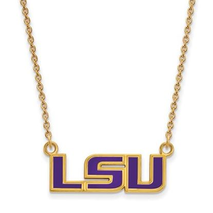 Picture of LSU Tigers Gold Plated Enamel Pendant 18 Inch Necklace