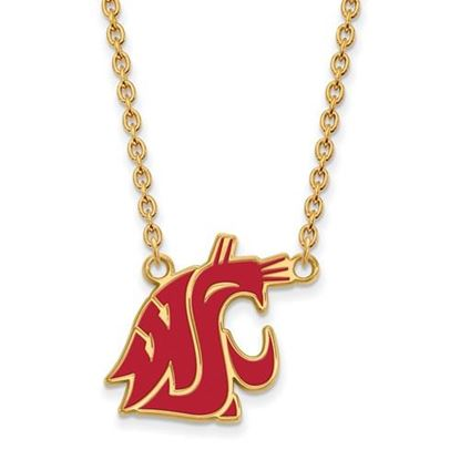 Picture of Washington State Cougars Gold Plated Enamel Pendant 18 Inch Necklace