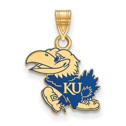 Picture of Kansas Jayhawks Gold Plated Enamel Pendant